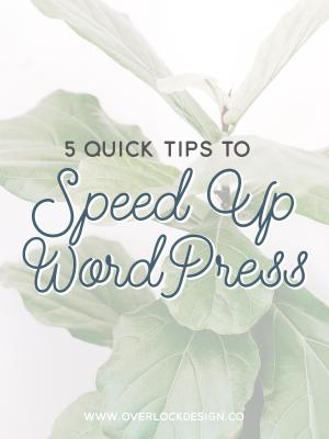 5 Quick Tips to Speed Up WordPress