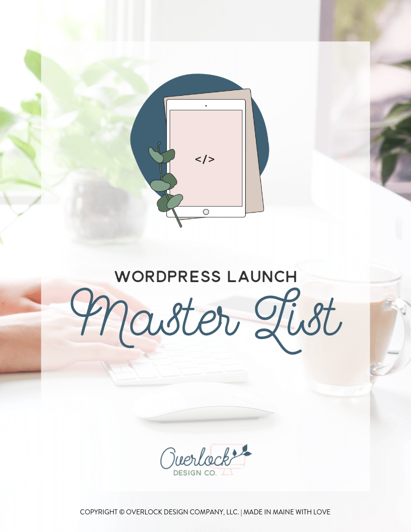 WordPress Launch Master List
